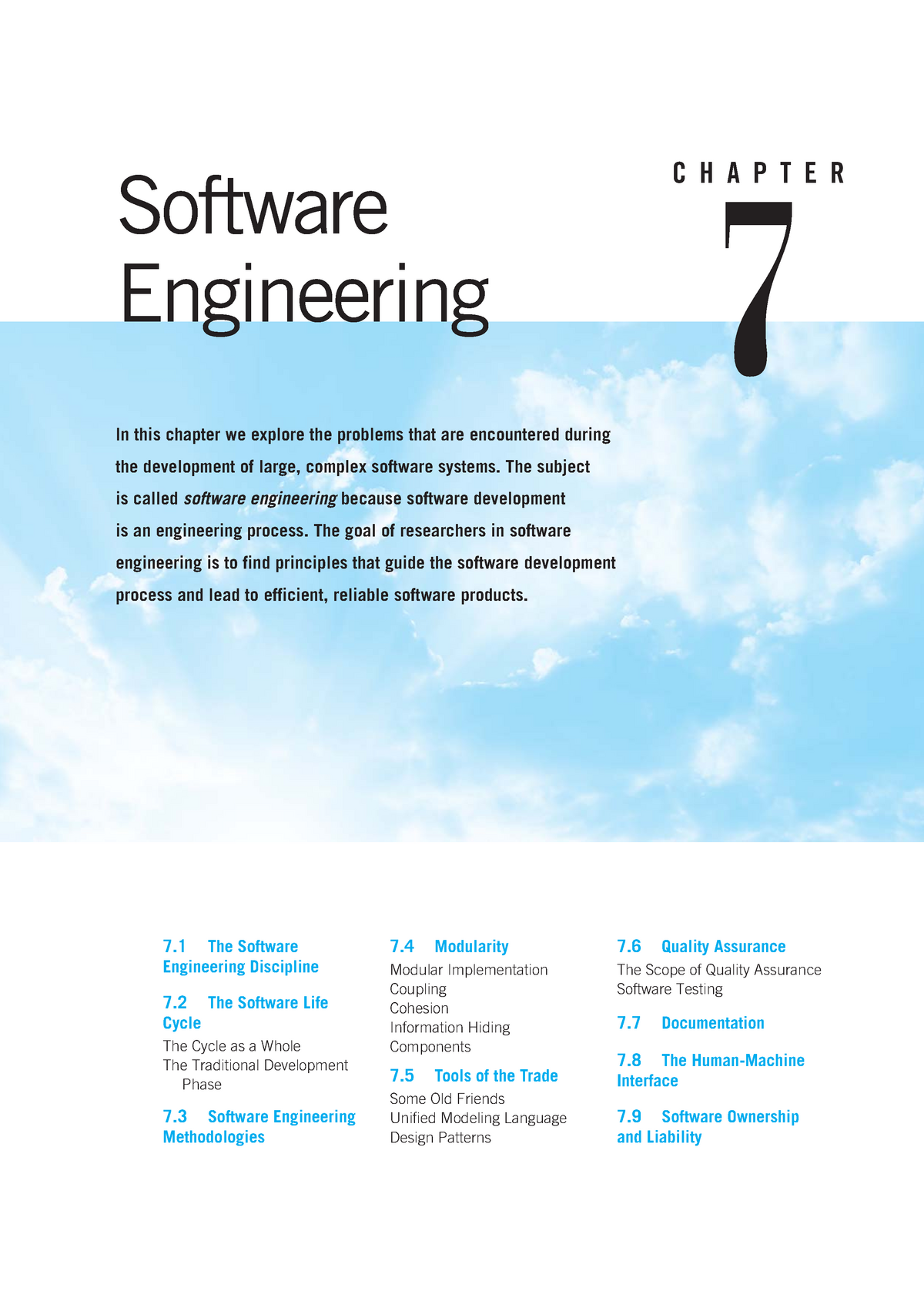 Chapter 07 Software Engineering Comp115 Mq Studocu