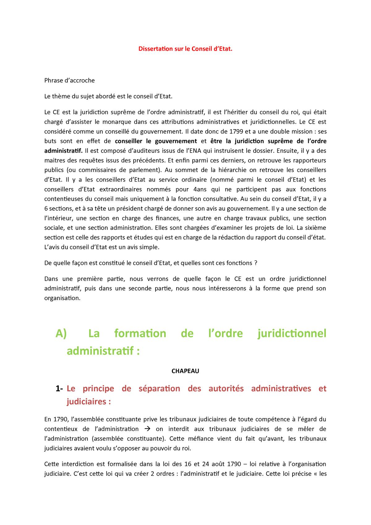 Dissertation institution administrative