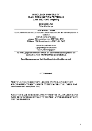 business law paper 2015