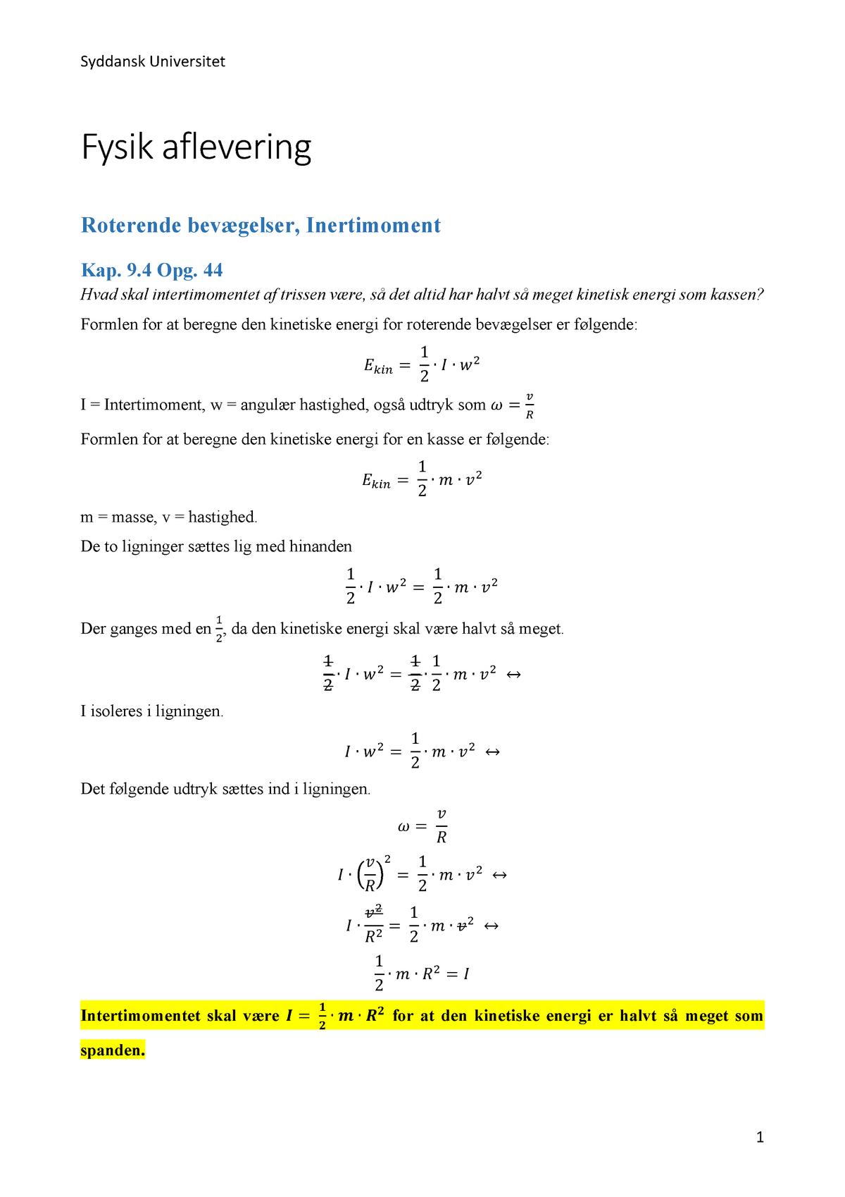 energi formel fysik
