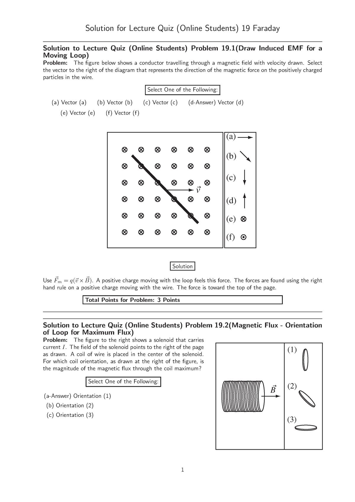 Lecturequiz-19-sln - lecturequiz - PHYS 2074: Univ Physics