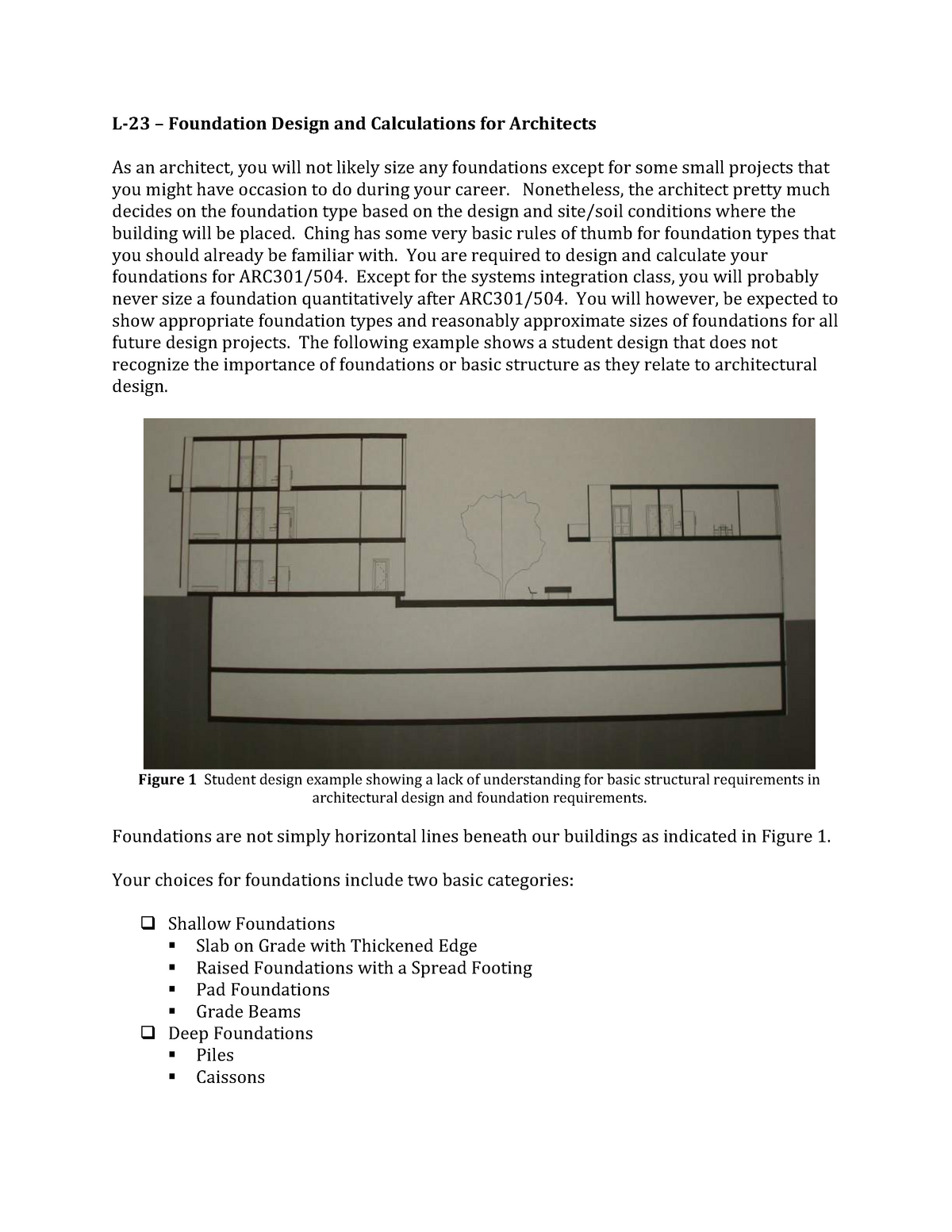 Foundation Design and Calculations for Architects - StuDocu