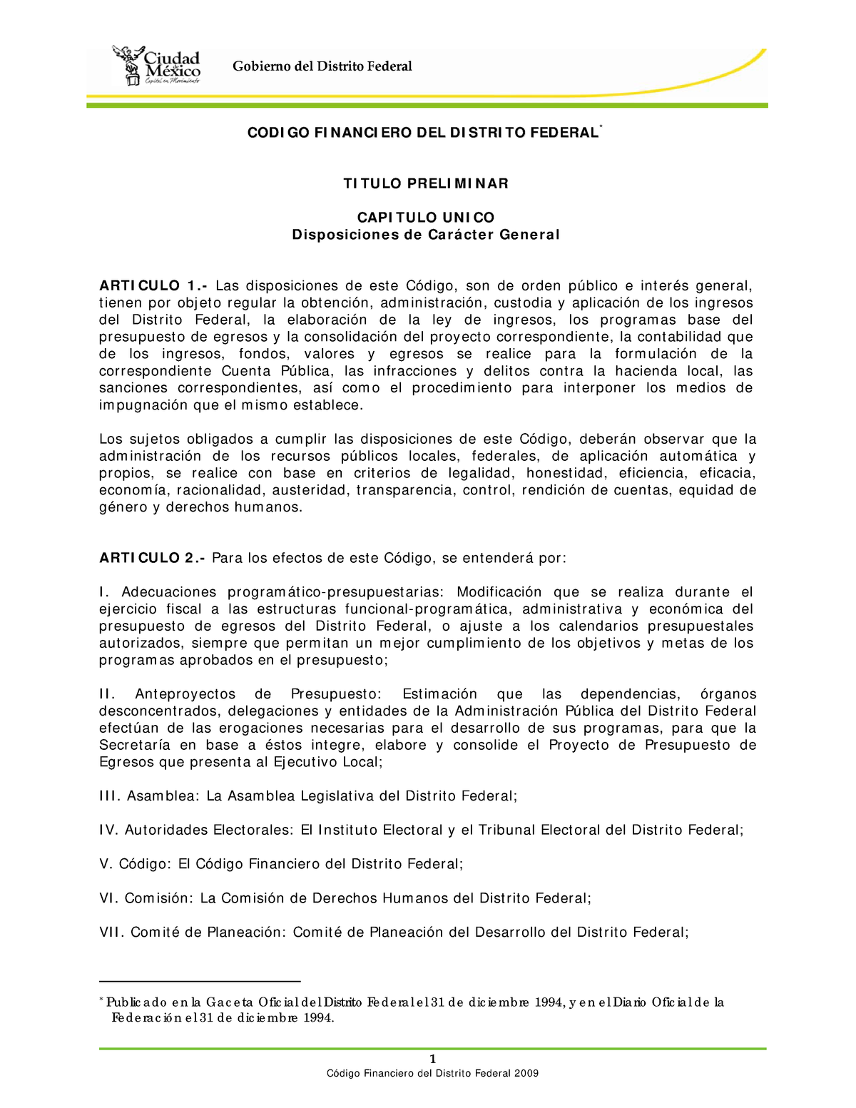 Codigo Financiero Df Ley Régimen De La Economía Iii