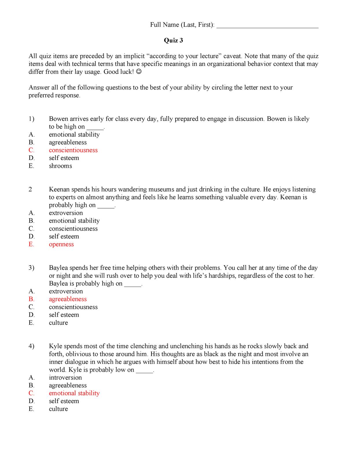 Exam 2018 - MGT 3681: Honors Human Behavior - StuDocu