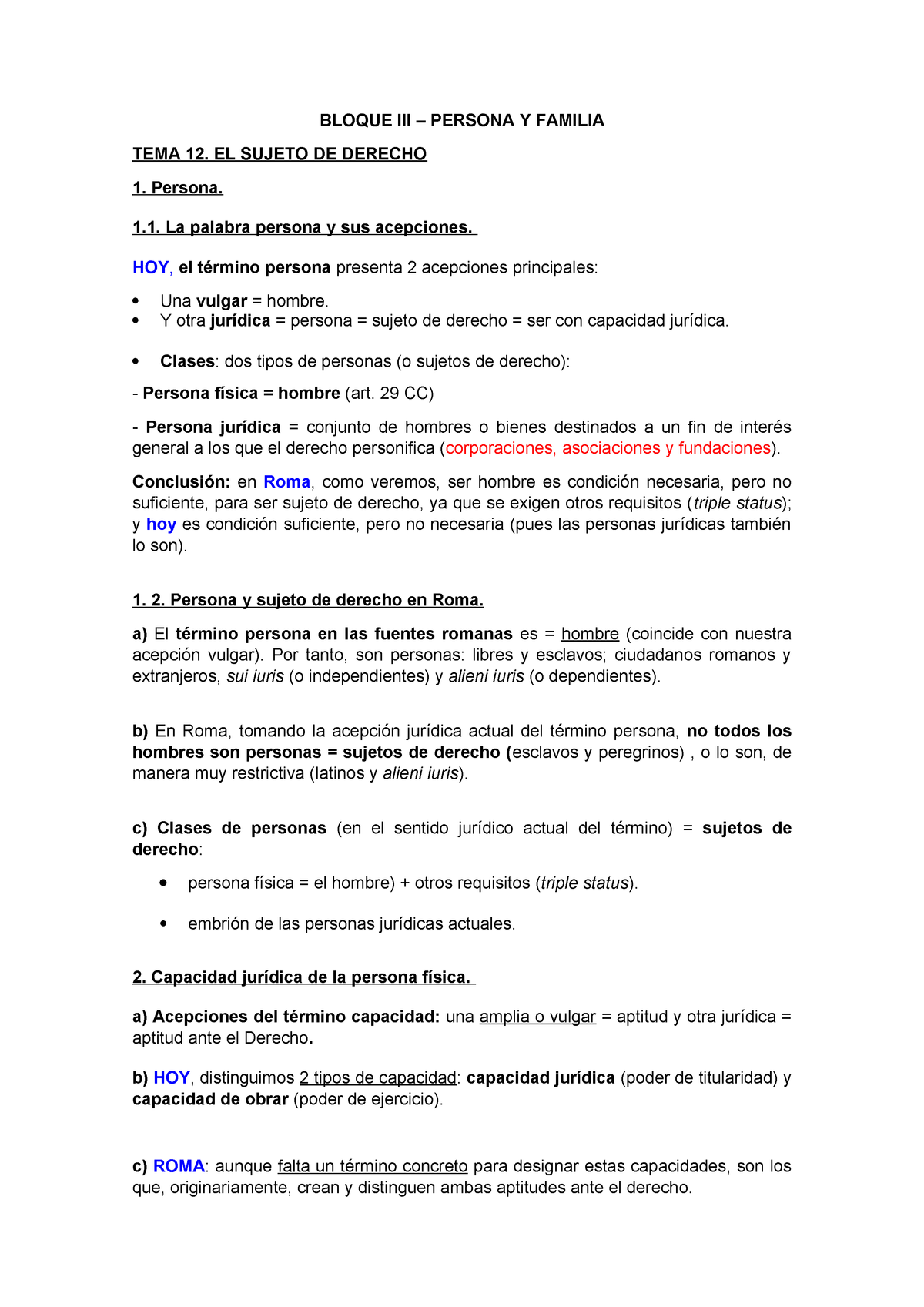 b08a081cead0 T12. El sujeto de derecho - Derecho Romano - StuDocu