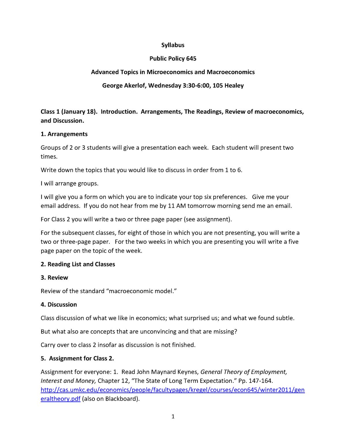 17A PPOL 645 0 88853 - Lecture notes 1 - ECON 452 - StuDocu