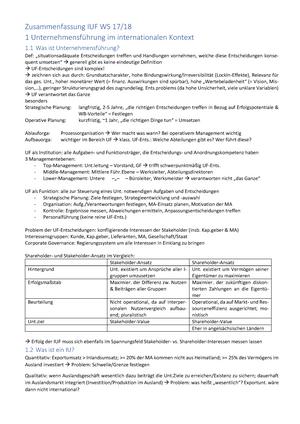Zusammenfassung Internationale Unternehmensführung WS 17/18 ...