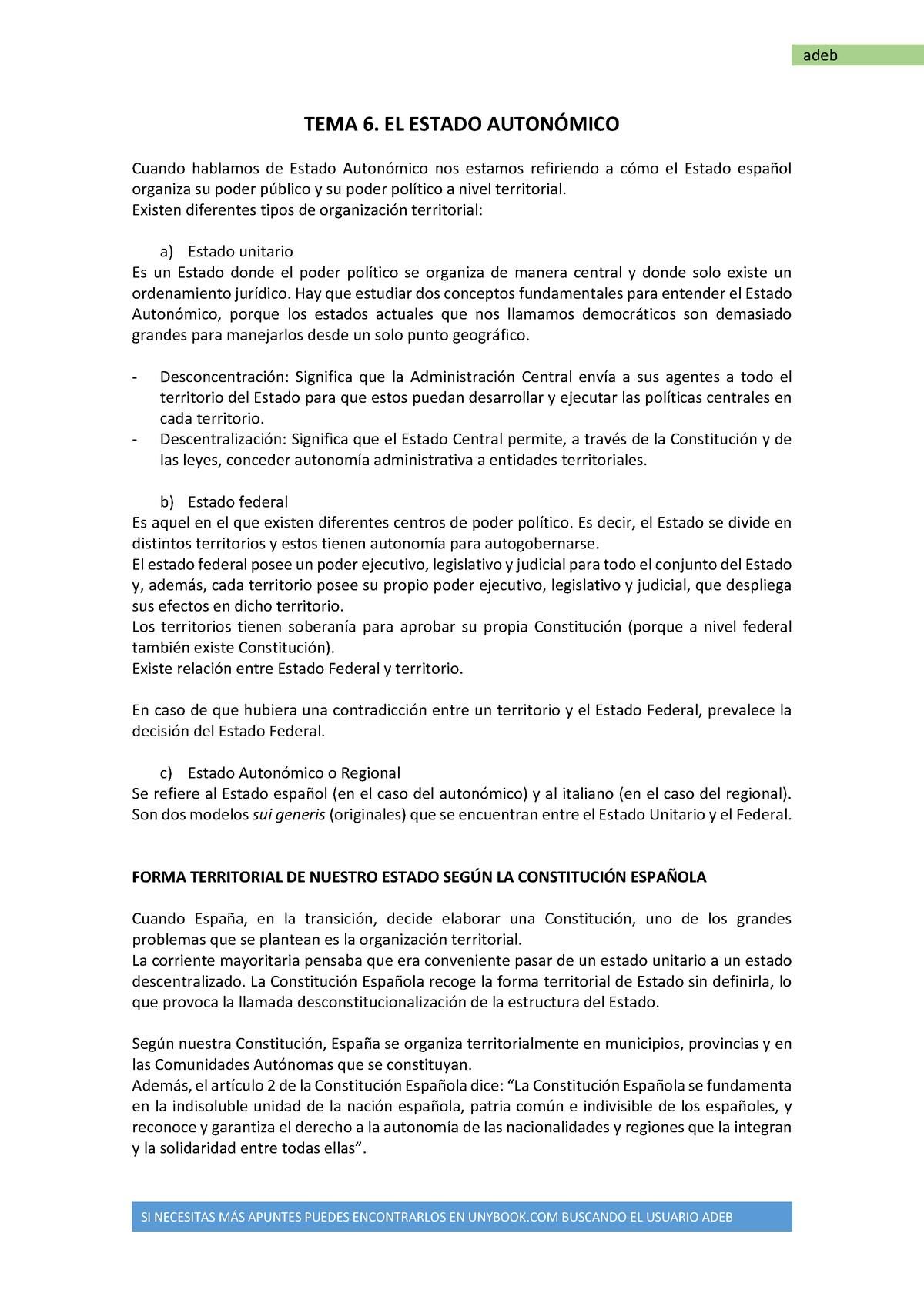 Derecho Constitucional Ii El Estado Autonómico 2056010