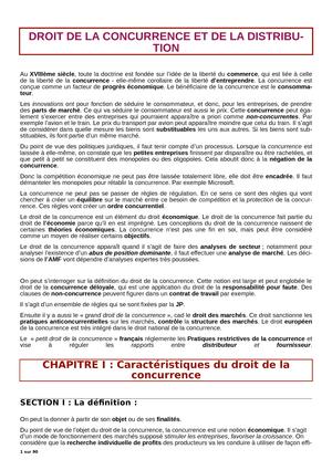 CM Droit De La Concurrence