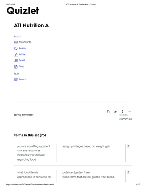 photo about Amino Acid Flashcards Printable named ATI Vitamins A Flashcards Quizlet-Summer months 2019 - AHN 447