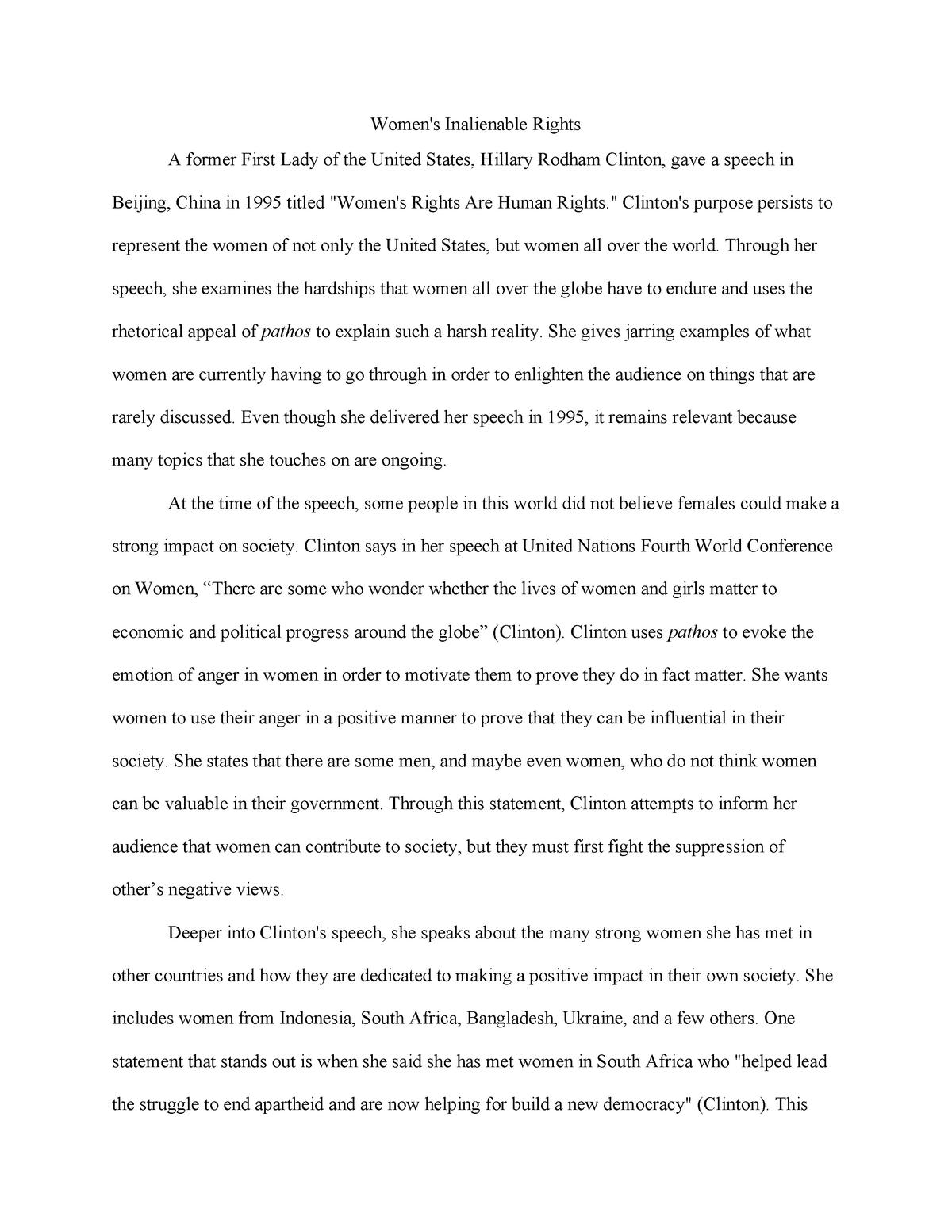 Do my popular rhetorical analysis essay on hillary clinton human resource coordinator resume examples