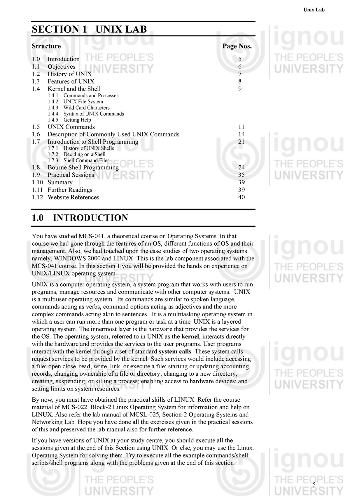 MCSL-045 STUDY MATERIAL - MCSL-045: UNIX and DBMS LAB - StuDocu