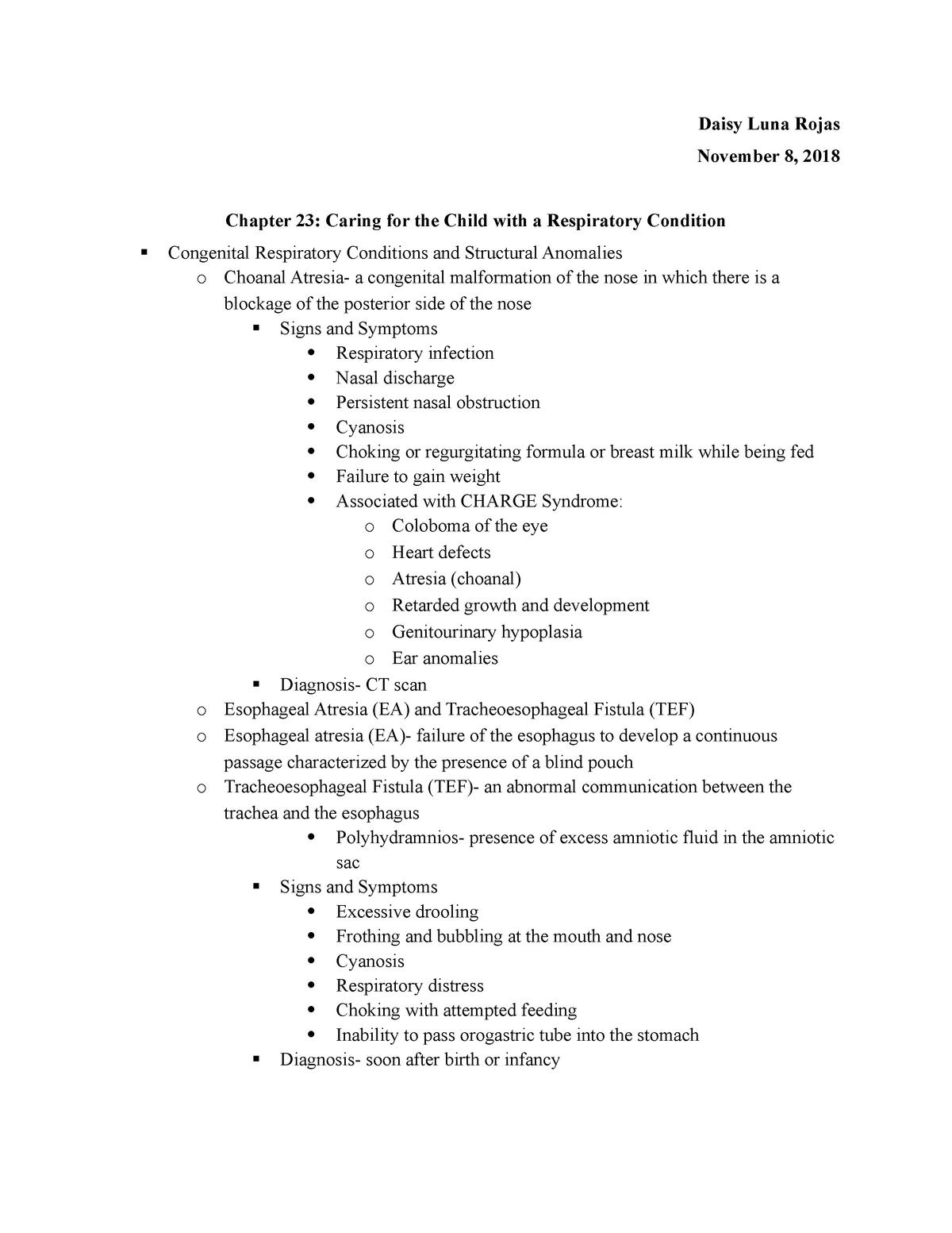 Chapter 23 - NSG 440: Pediatric Nursing - StuDocu