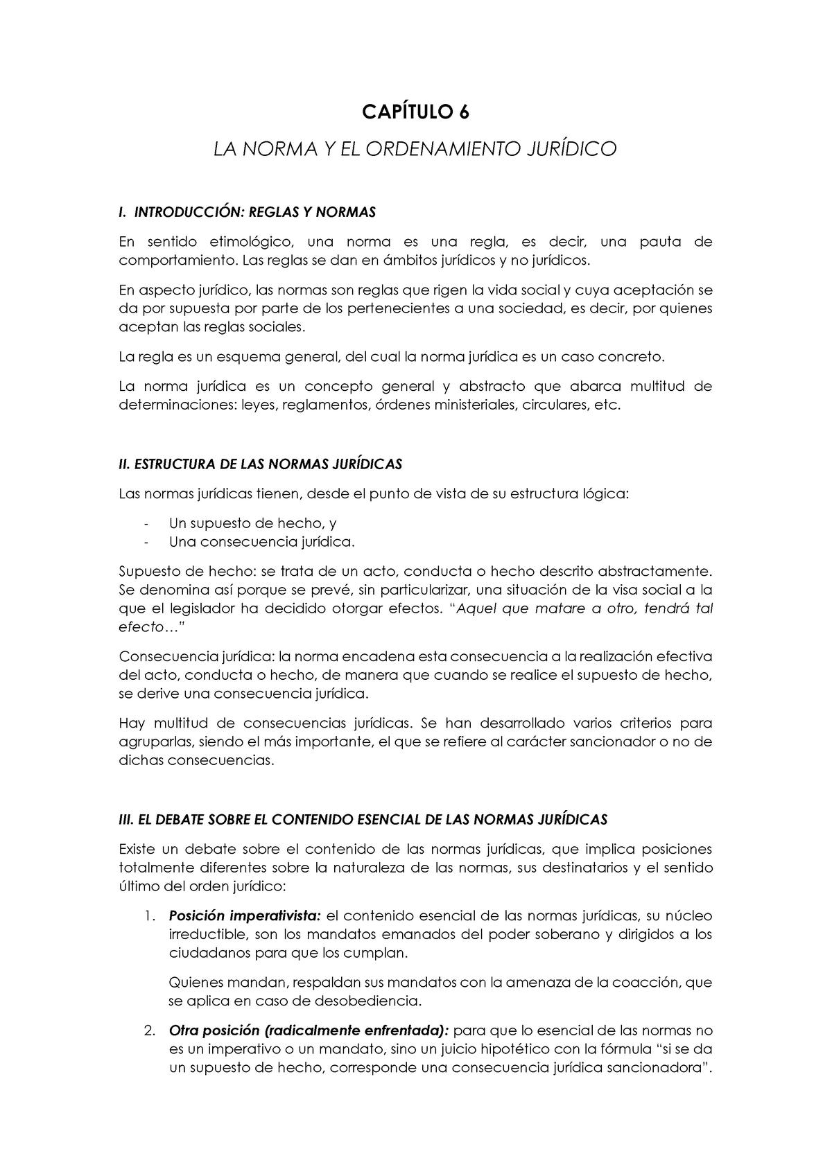 Capítulo 6 La Norma Y El Ordenamiento Jurídico 00001198