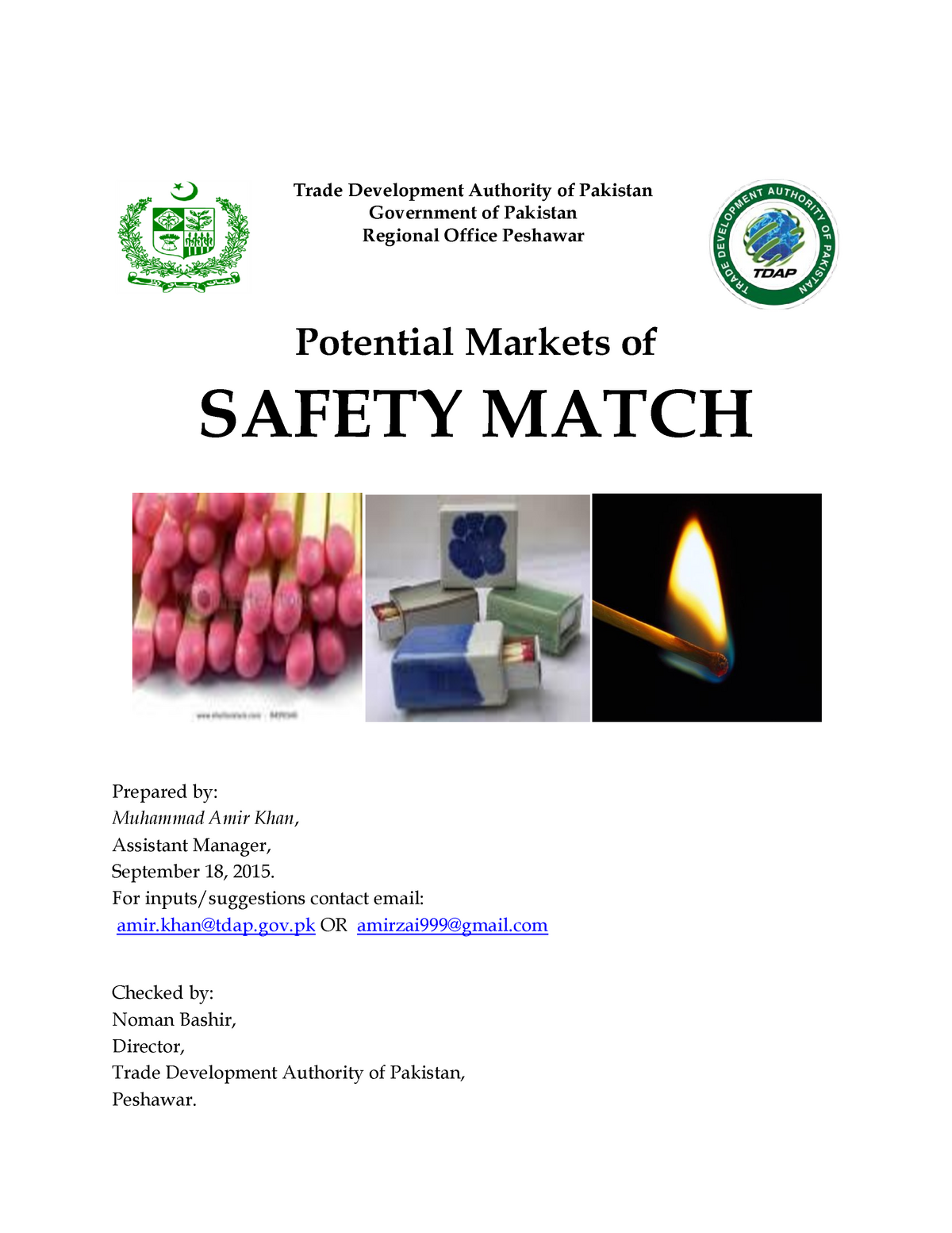 Report on Safety Match - International relations 454 - StuDocu
