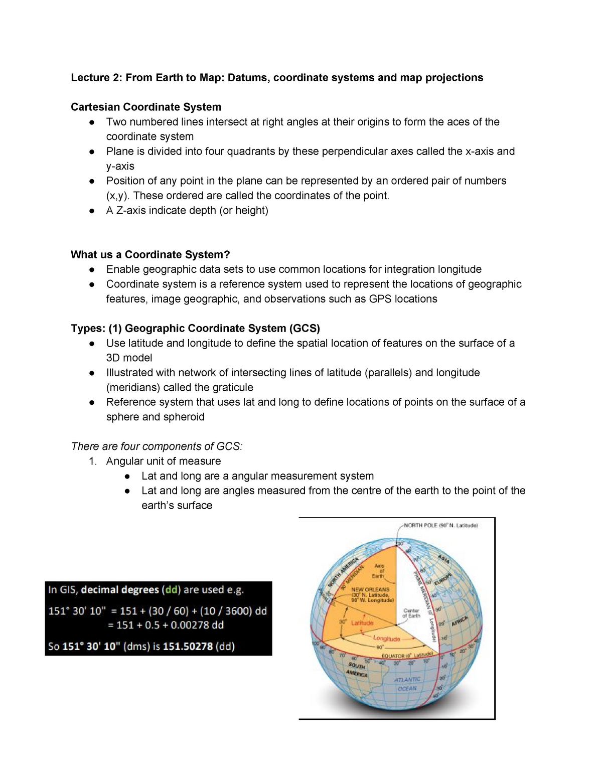 ENVS264 Lecture Notes - ENV264: Introduction to Geographic