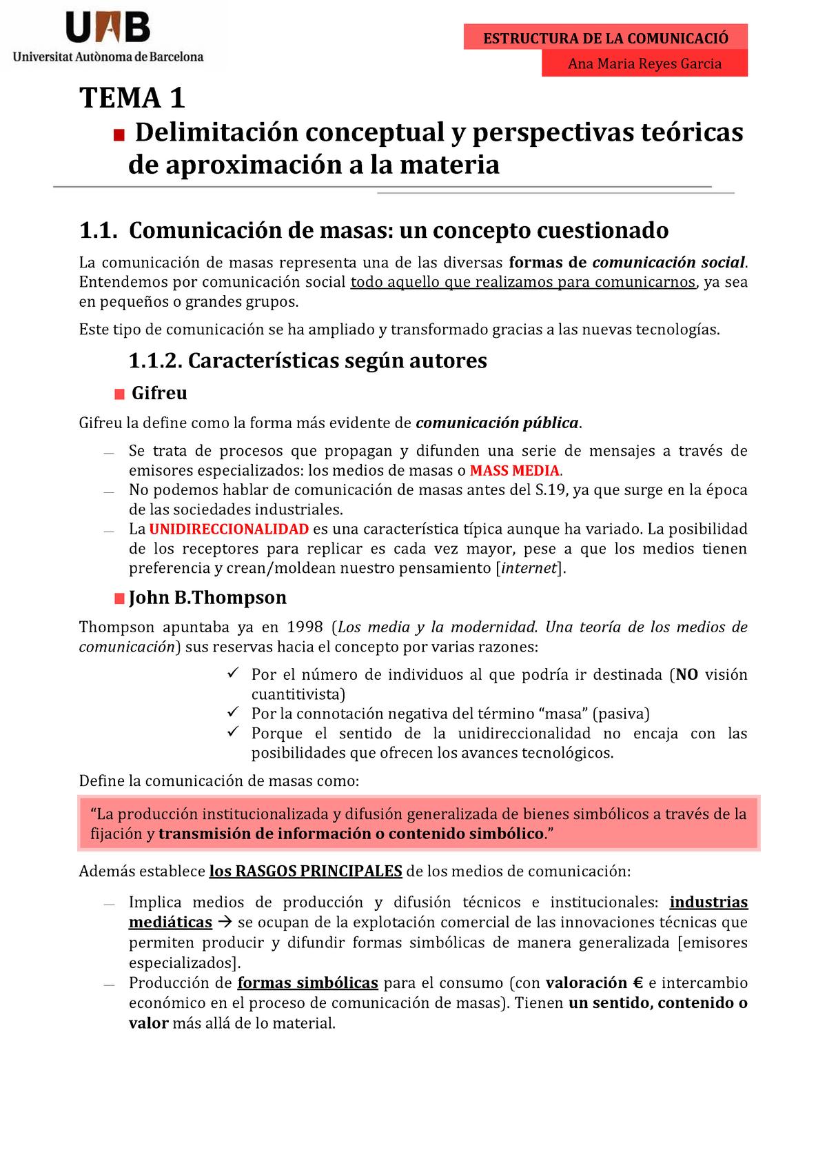 Estructura De La Comunicació Assignatura Completa Uab