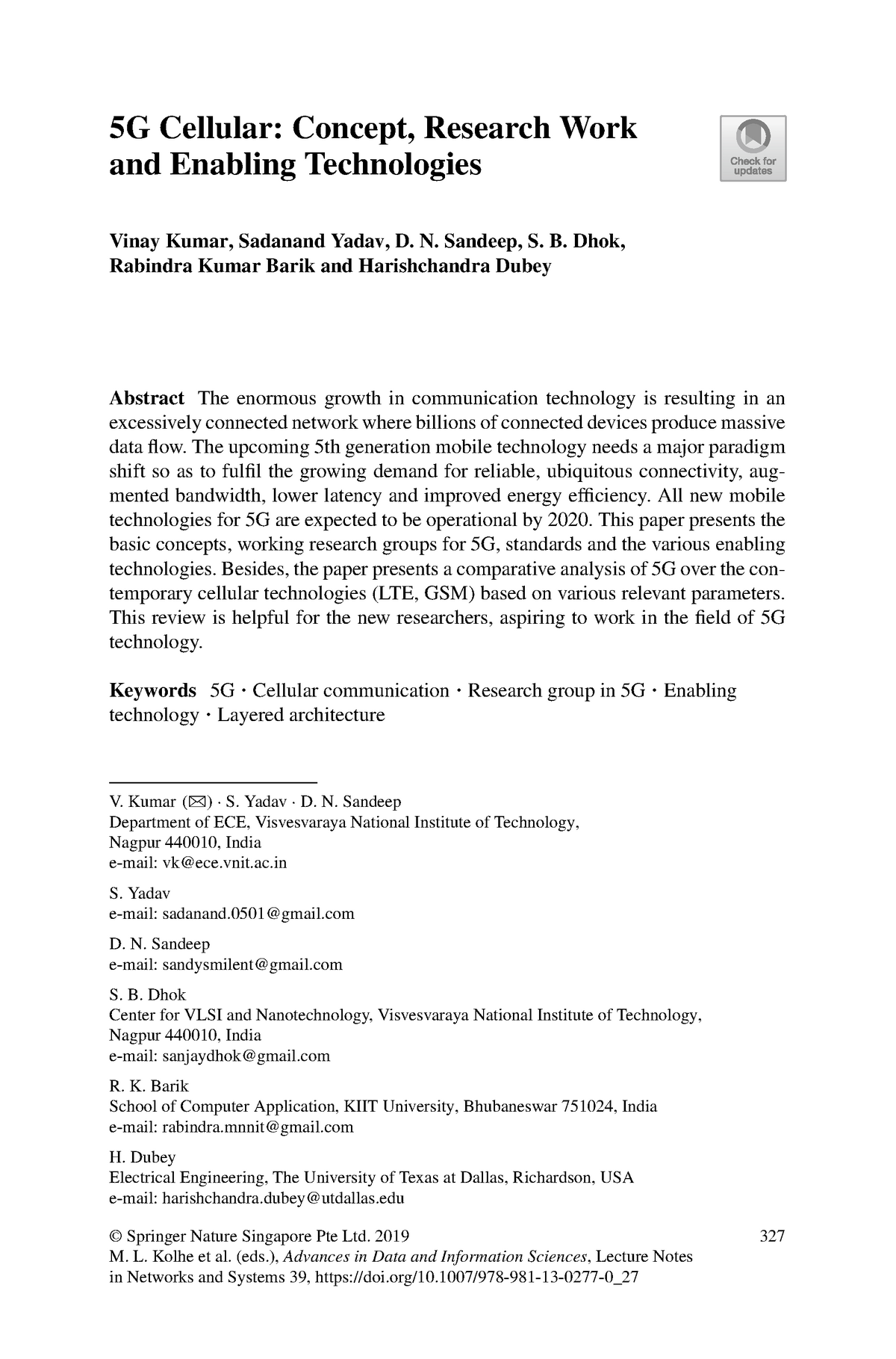 5G Cellular Concept Research Work and Enabling Technologies