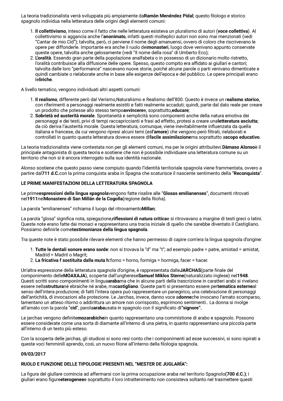 Letteratura Appunti 1 4 01 Unior Studocu