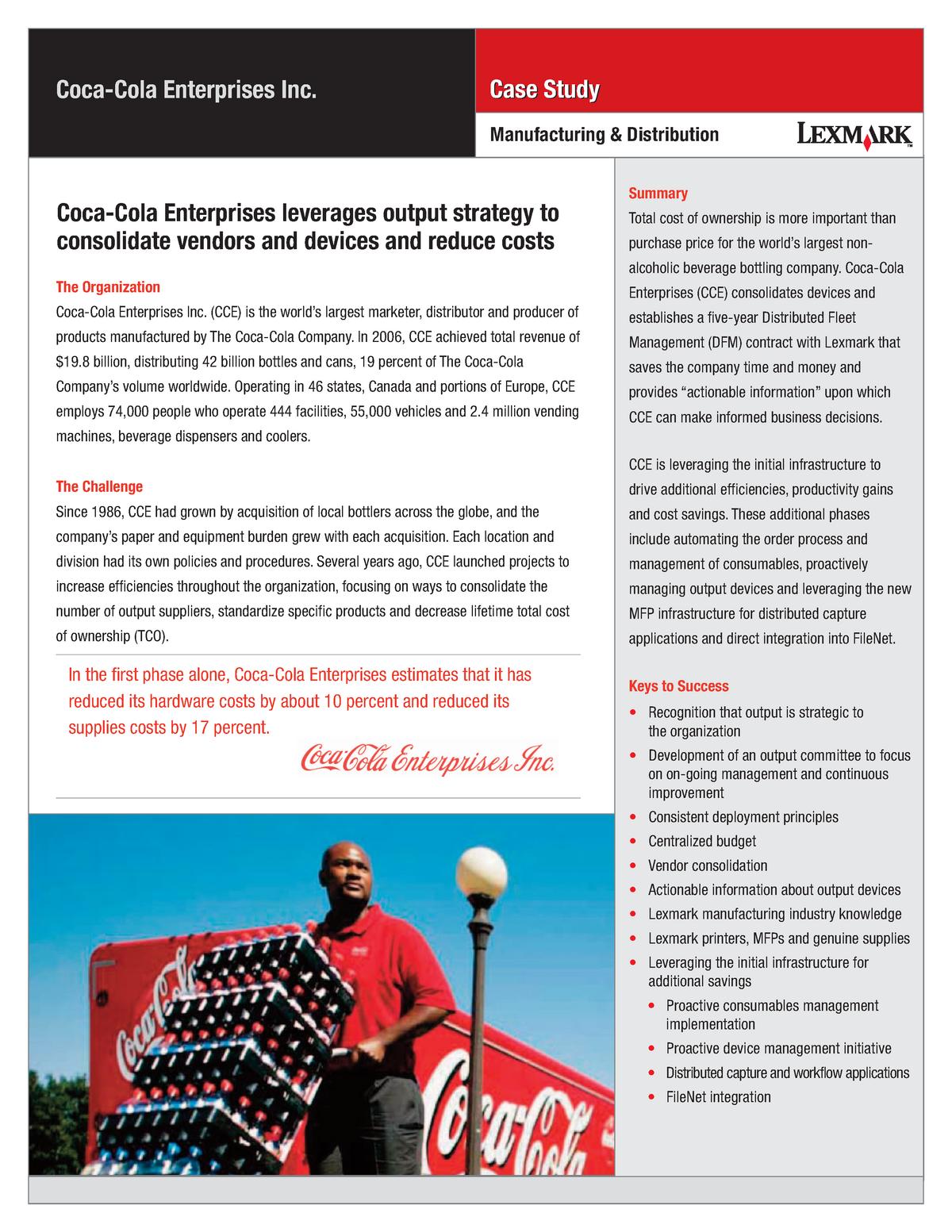 Coke case study - Accounting & Finance - StuDocu