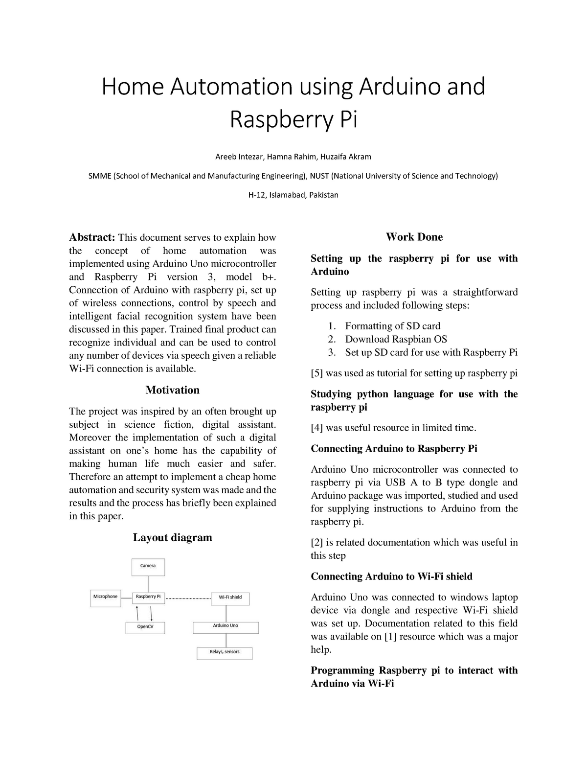 Home Automation using Arduino and Raspberry Pi - 112