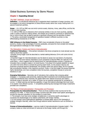 Summary Transnational Management, Christopher A  Bartlett