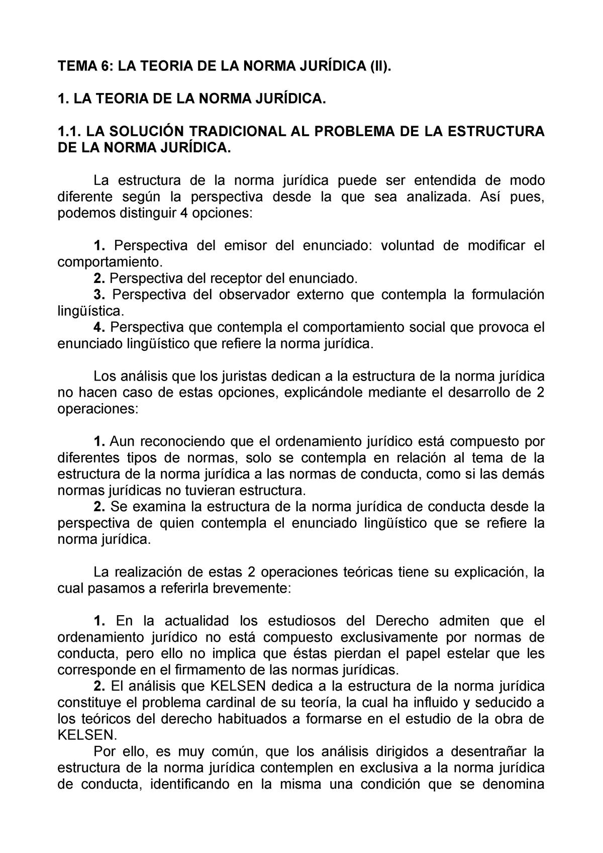 Tema 6 Bis Teoria Del Derecho Ulpgc Pdf 41500 Studocu