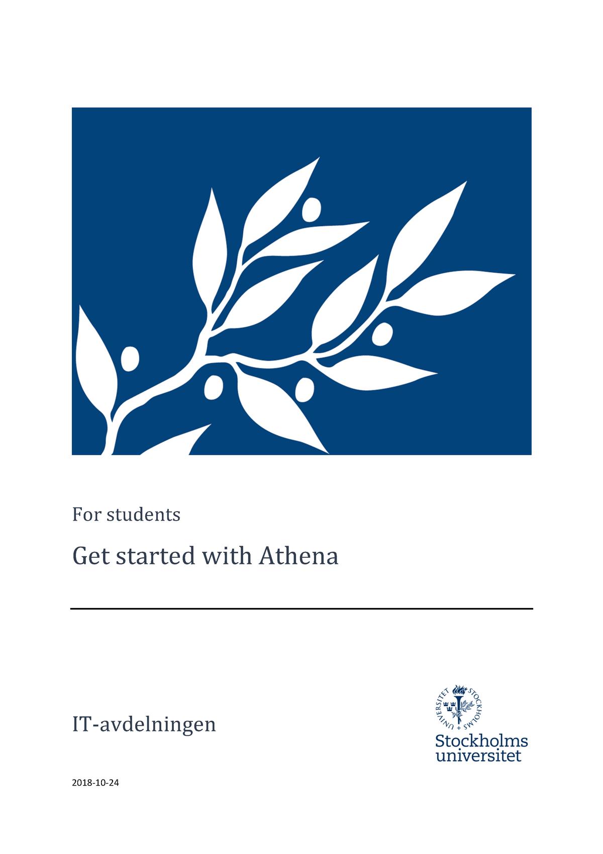 Stockholms Universitet Athena