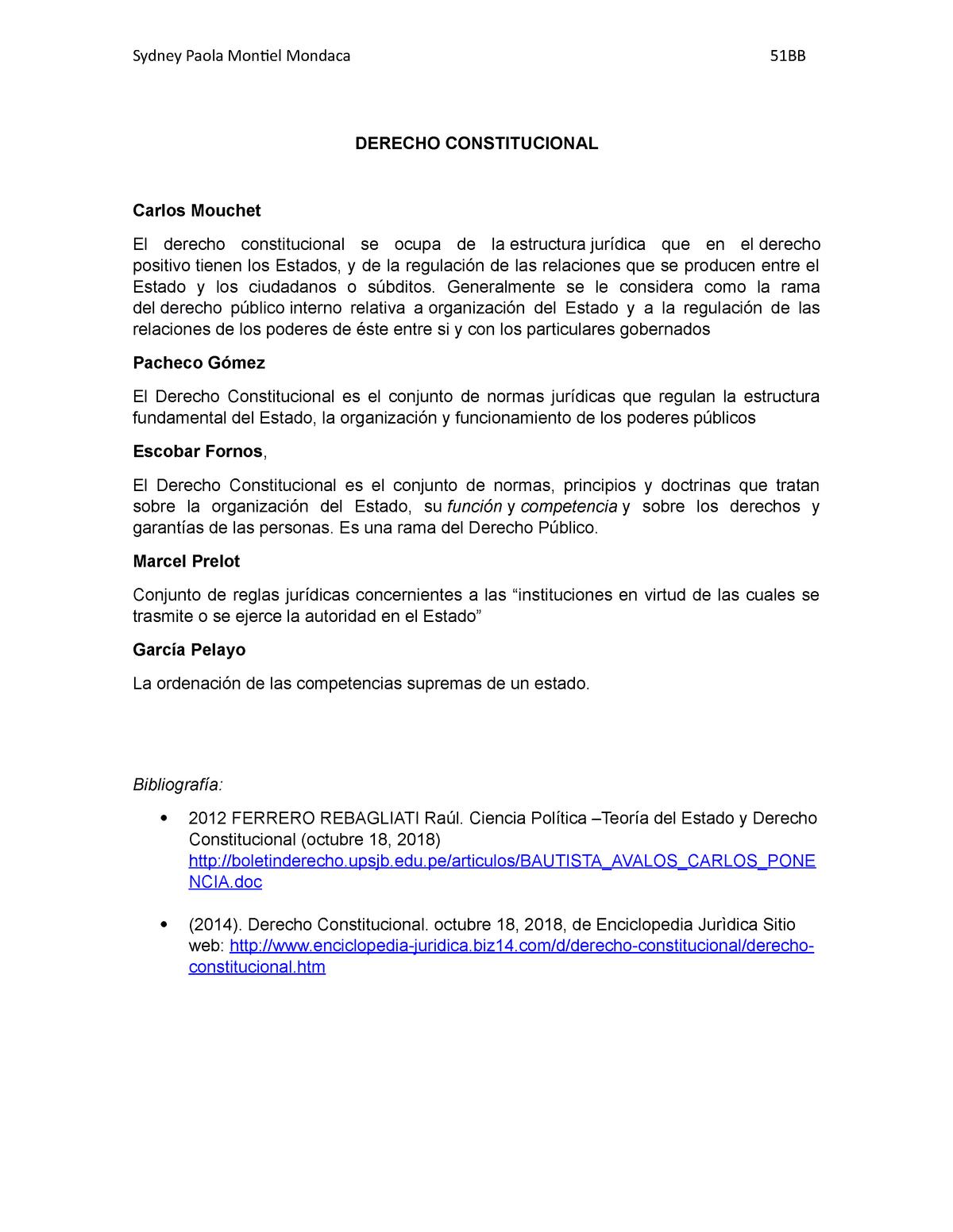 Derecho Constitucional Enciclopedía Jurídica Uvm Studocu