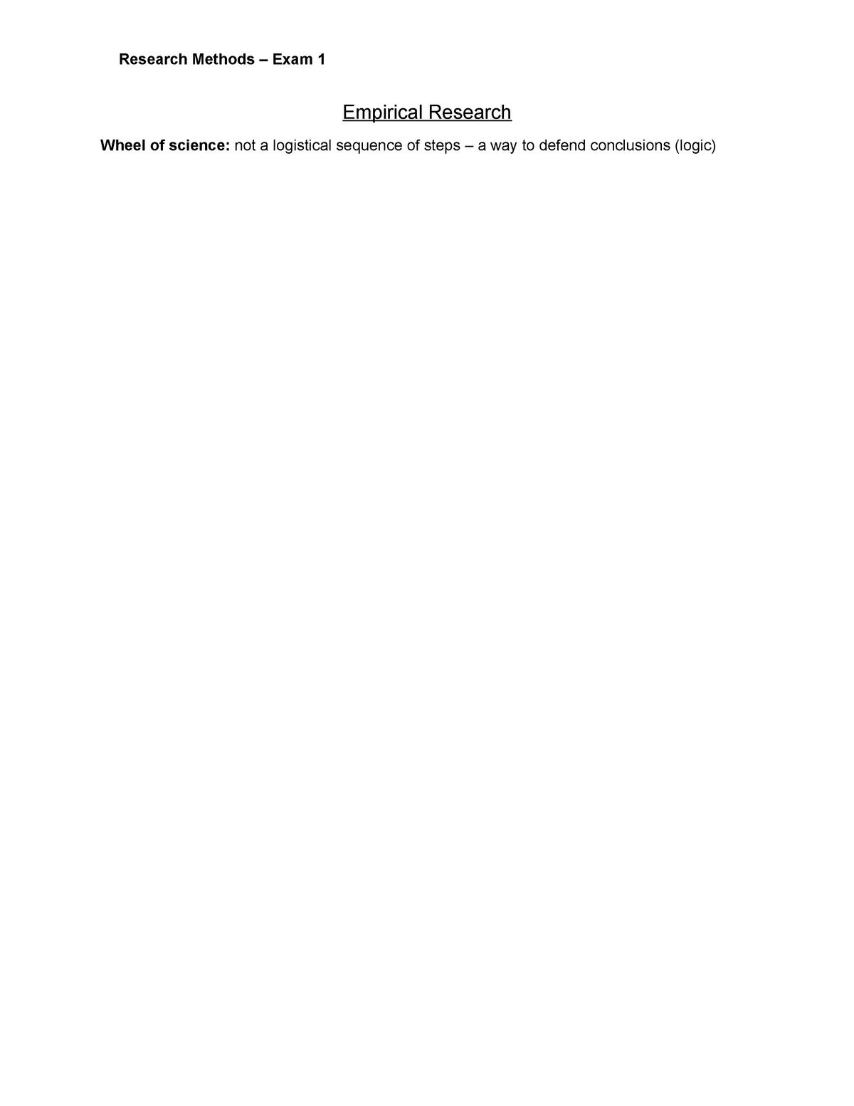 Research Methods Exam 1 - 201500146 - Universiteit Twente
