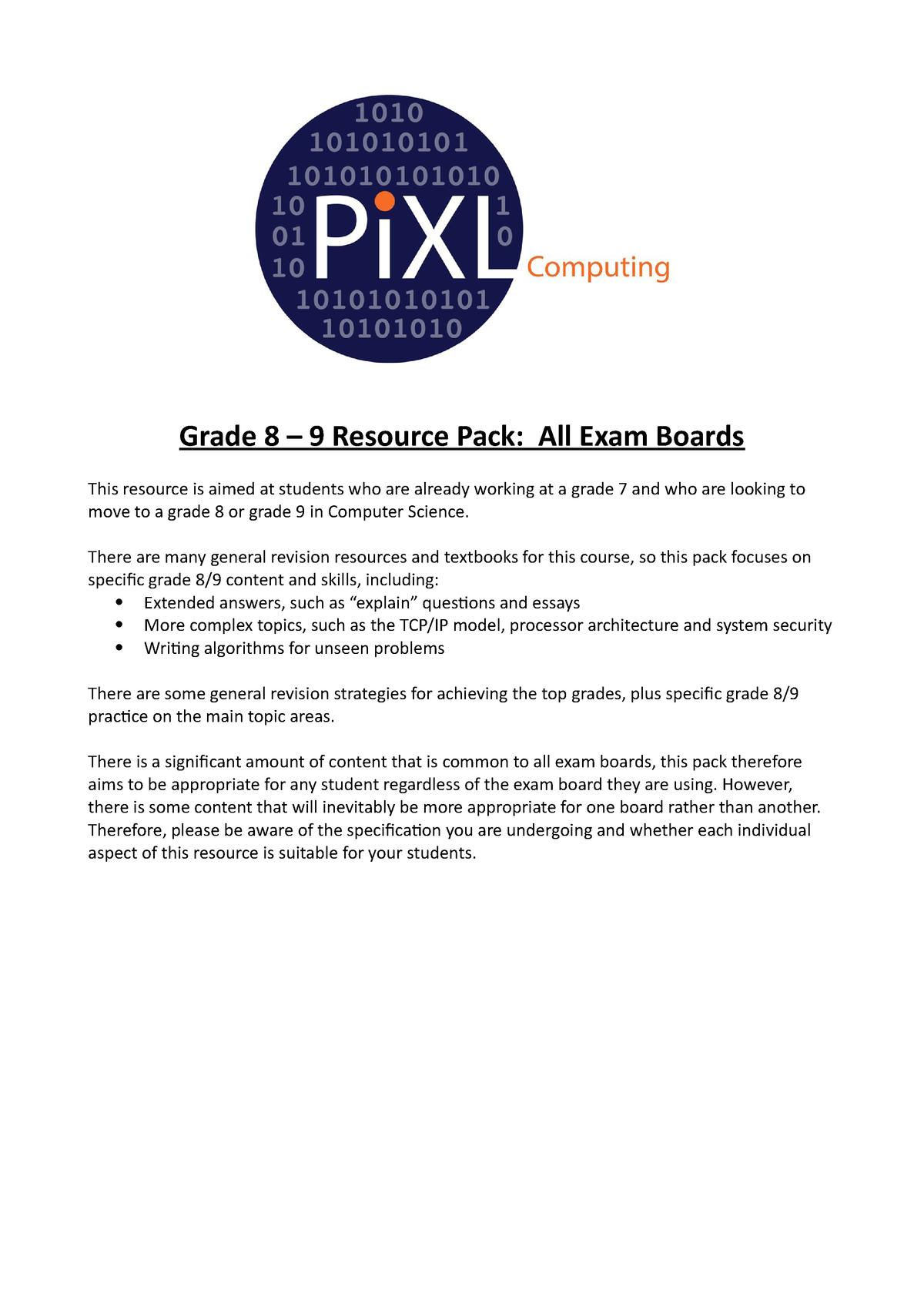 Computer Science summary pack - CS1S466 - StuDocu