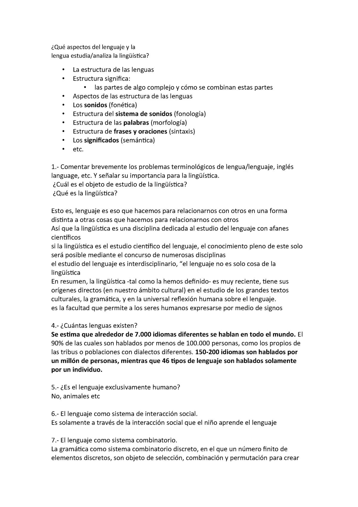 Guía De Estudio 1 Apuntes Todo Lingüística Ucm Studocu