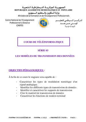 cours teleinformatique gratuit