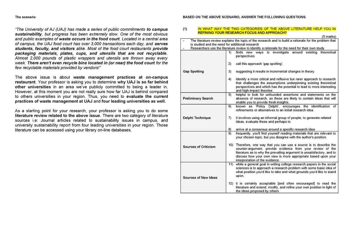 Test 1 Research Method - SHAD 3073: Research Method - StuDocu