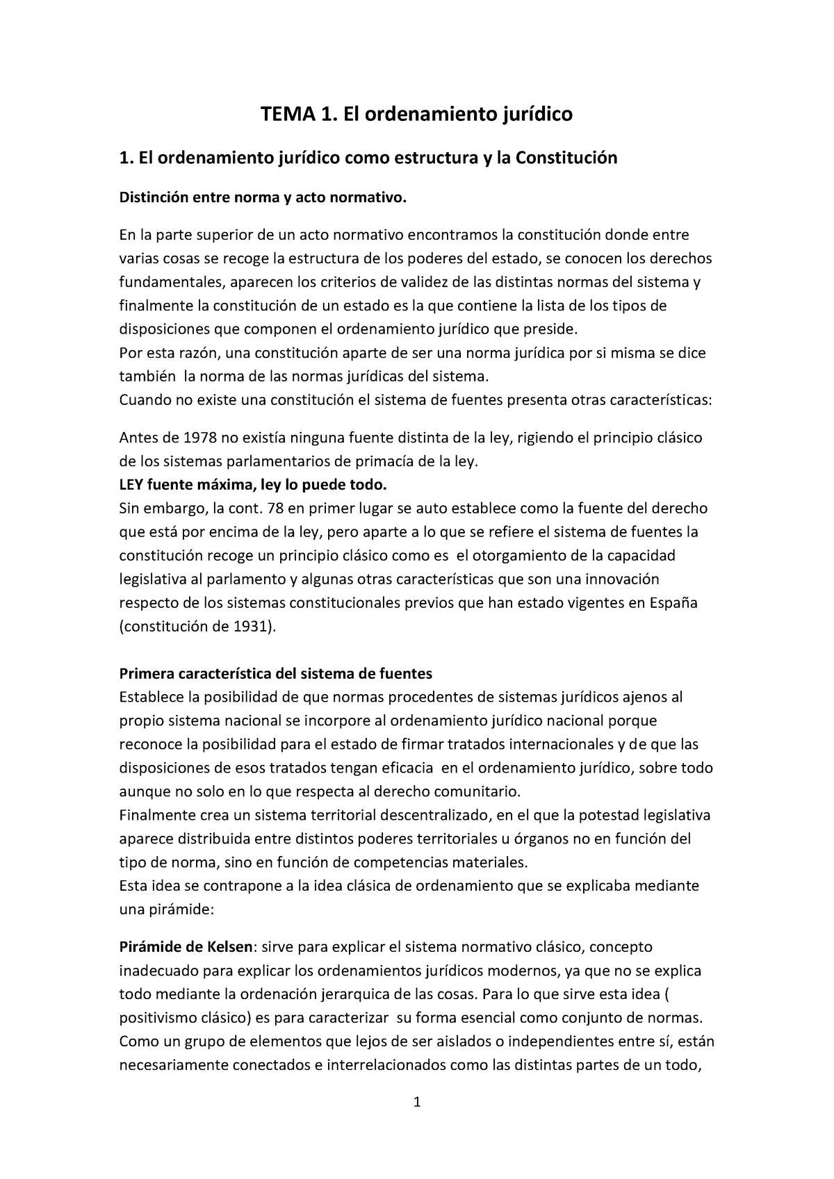Tema 1 Derecho Constitucional I Uab Studocu