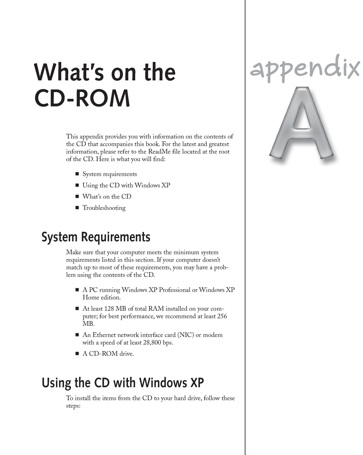 Appendix A What is on the CD-ROM - MIT 8202: Project Management in