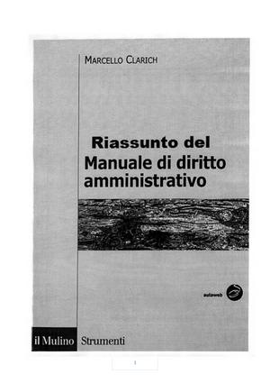 Samenvatting Manuale Di Diritto Amministrativo 17 Oct 2018 Studocu