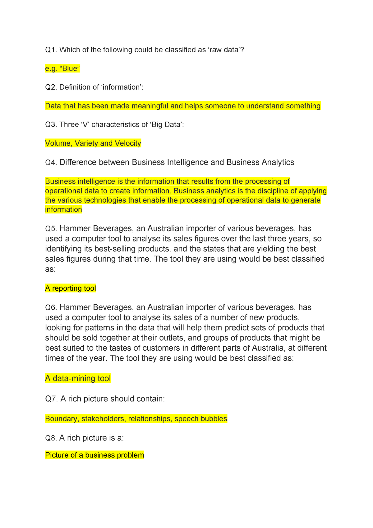 Topic 2 - Lecture notes 2 - ISYS2056: Business Computing