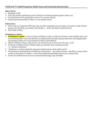 Summary EN201 EN201 01 May 2018 - StuDocu