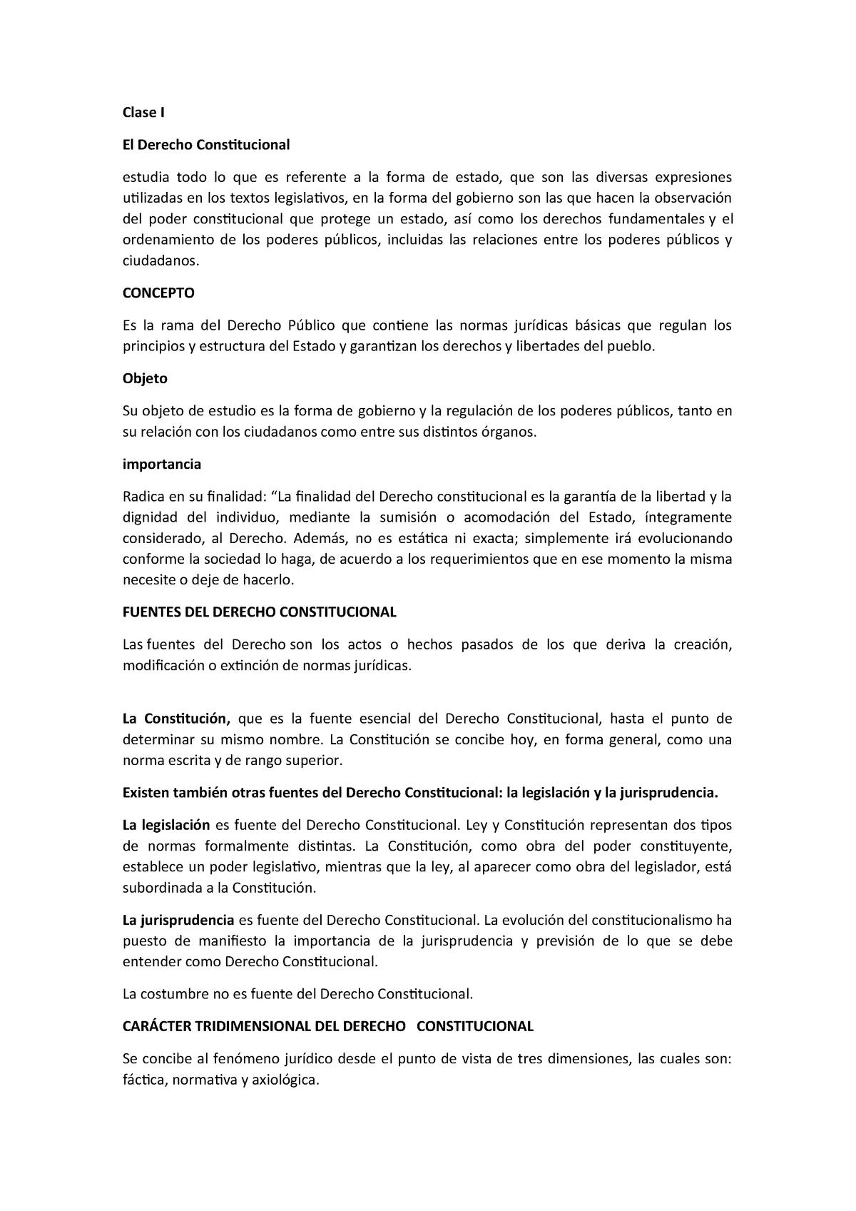 1er Parcial Dd Apuntes Constitucional 1245 Studocu