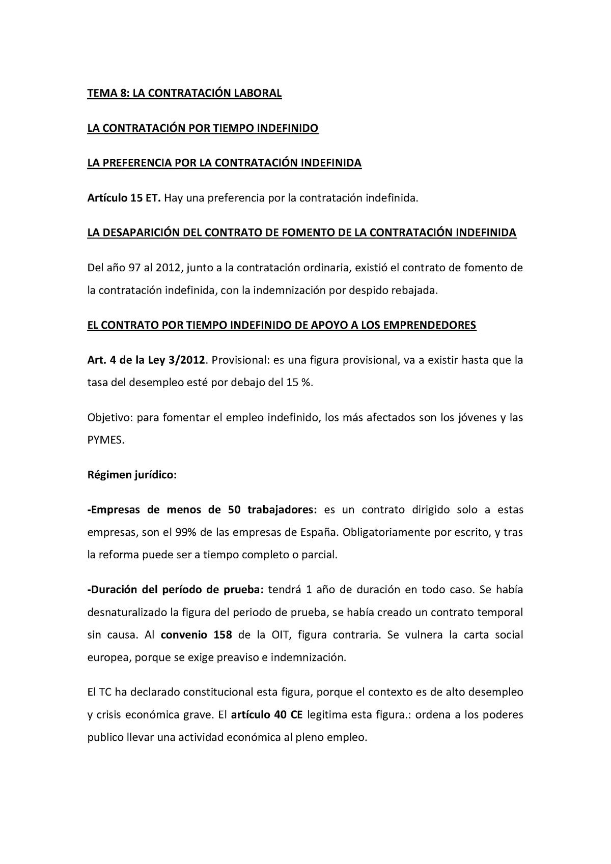 Tema 8 Apuntes 8 Derecho Laboral Uv Studocu