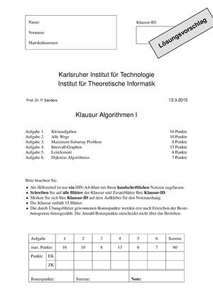 Klausur 2015 2595501 Informatik Studocu