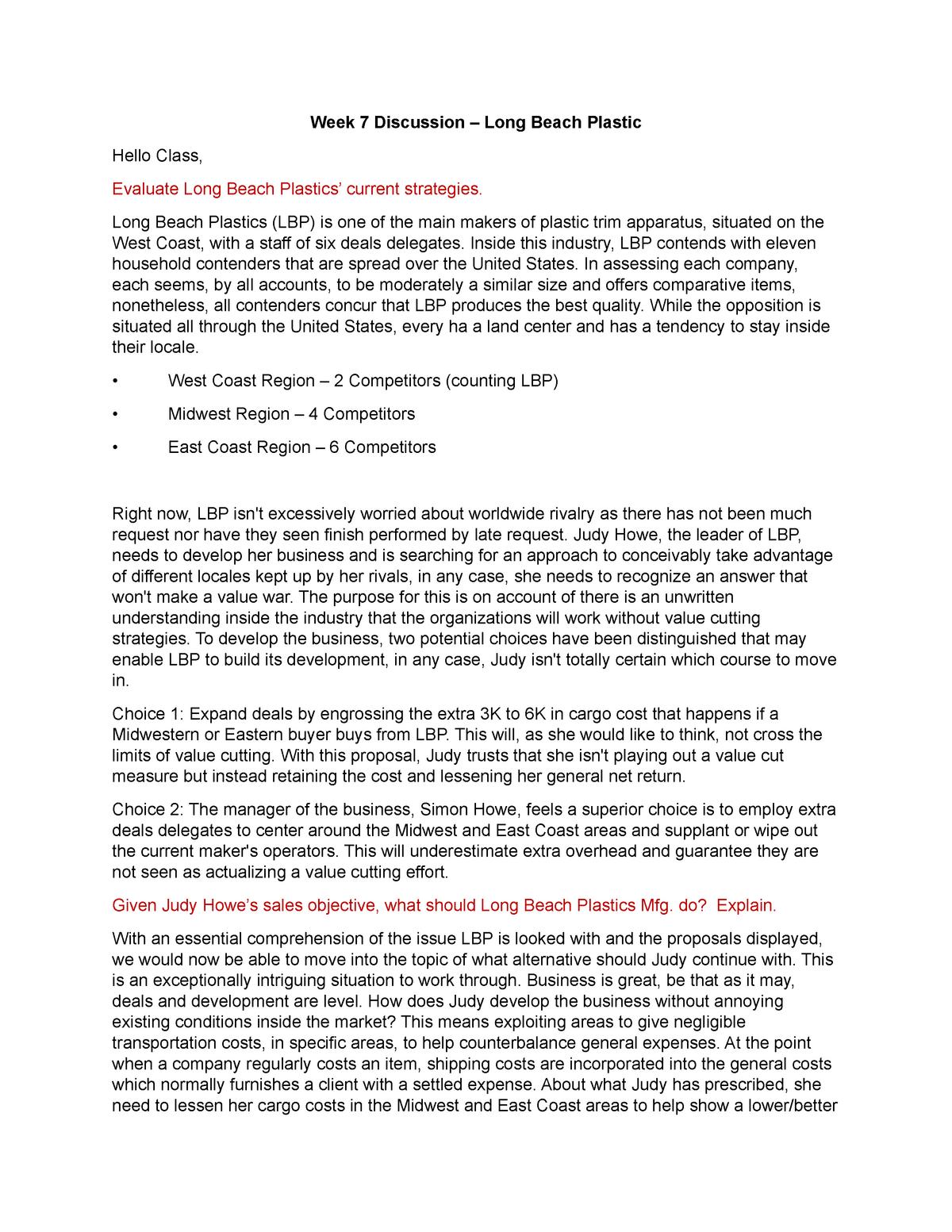 Mk351 unit 7 discussion - MK 351: Principles Of Marketing - StuDocu