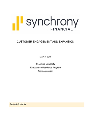 Synchrony Financial Executive Paper - Final - BUS HON