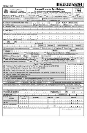 mandatory attachment to bir form no 1701