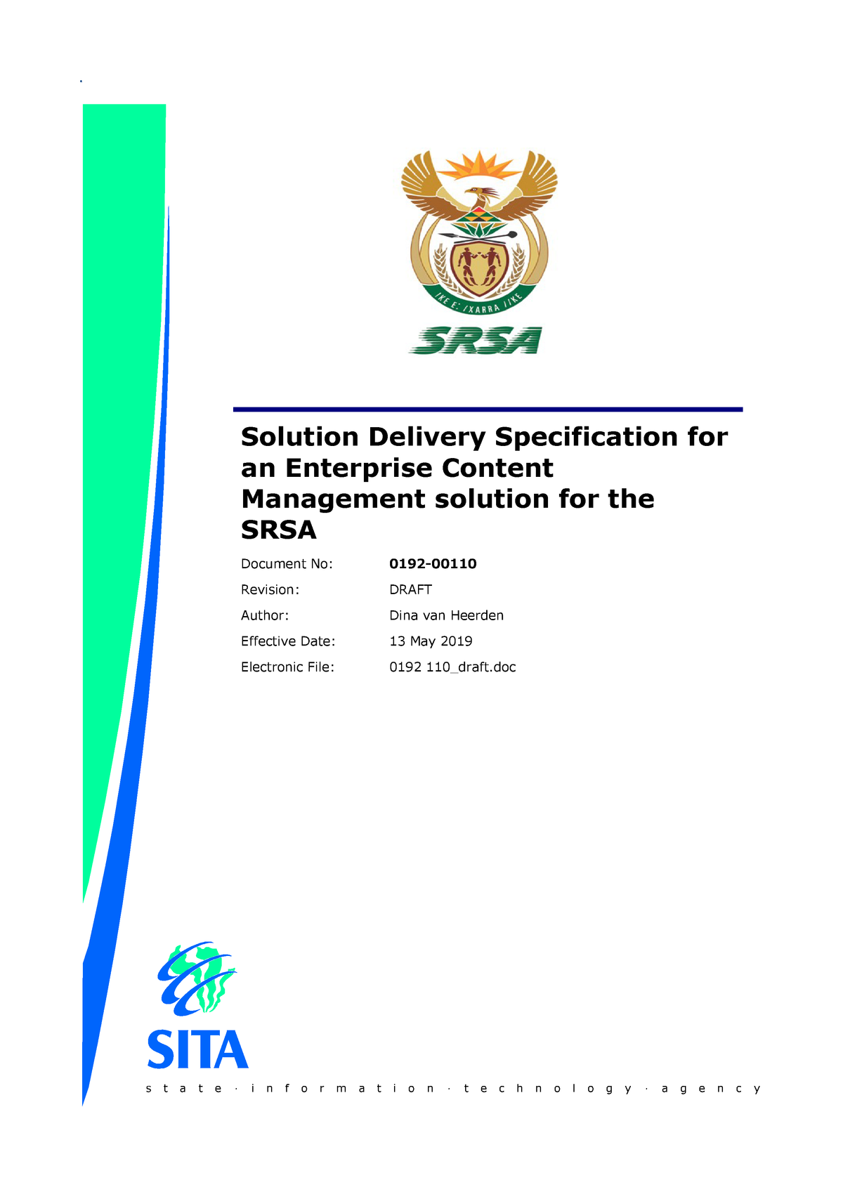SRSA3 Solution Delivery Spec - LAW CSL2601: Constitutional