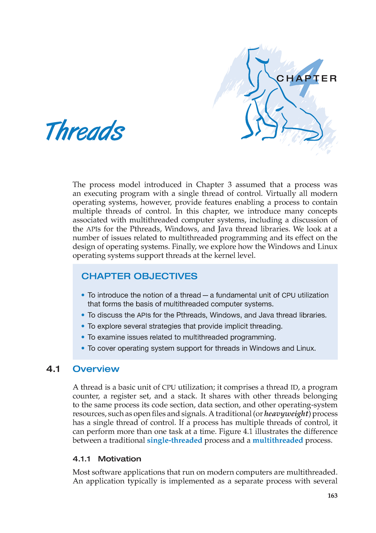 Chapter 04 - Threads - COMP3301: Operating Systems