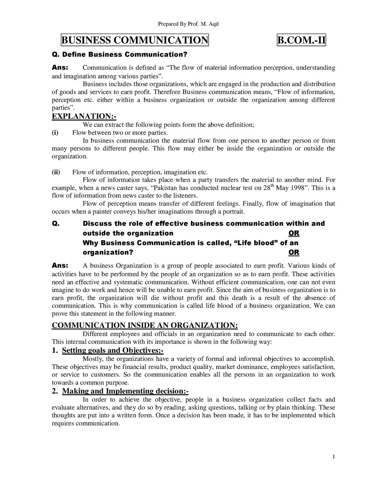 Business-communication - Bpbe 347 3 - U of S - StuDocu