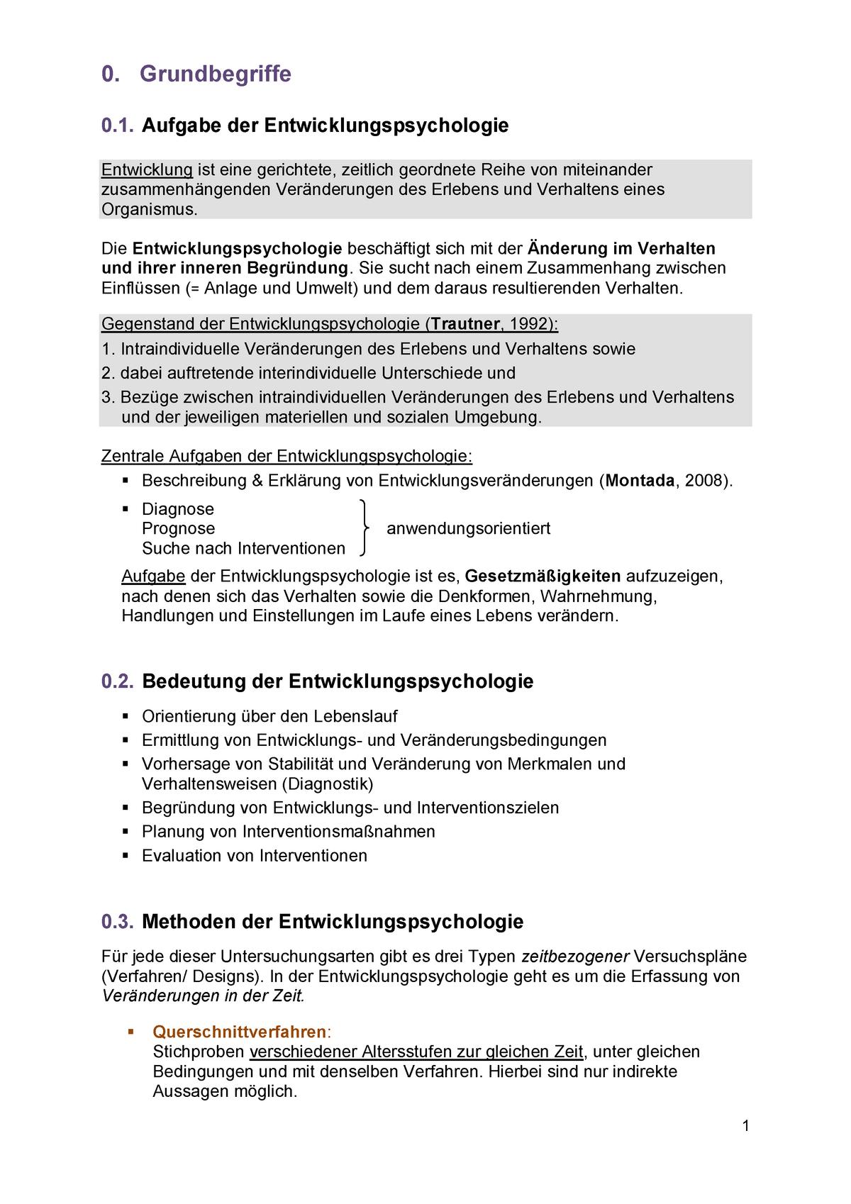 Entwicklungspsychologie - Pädagogische Psychologie 16662 ...