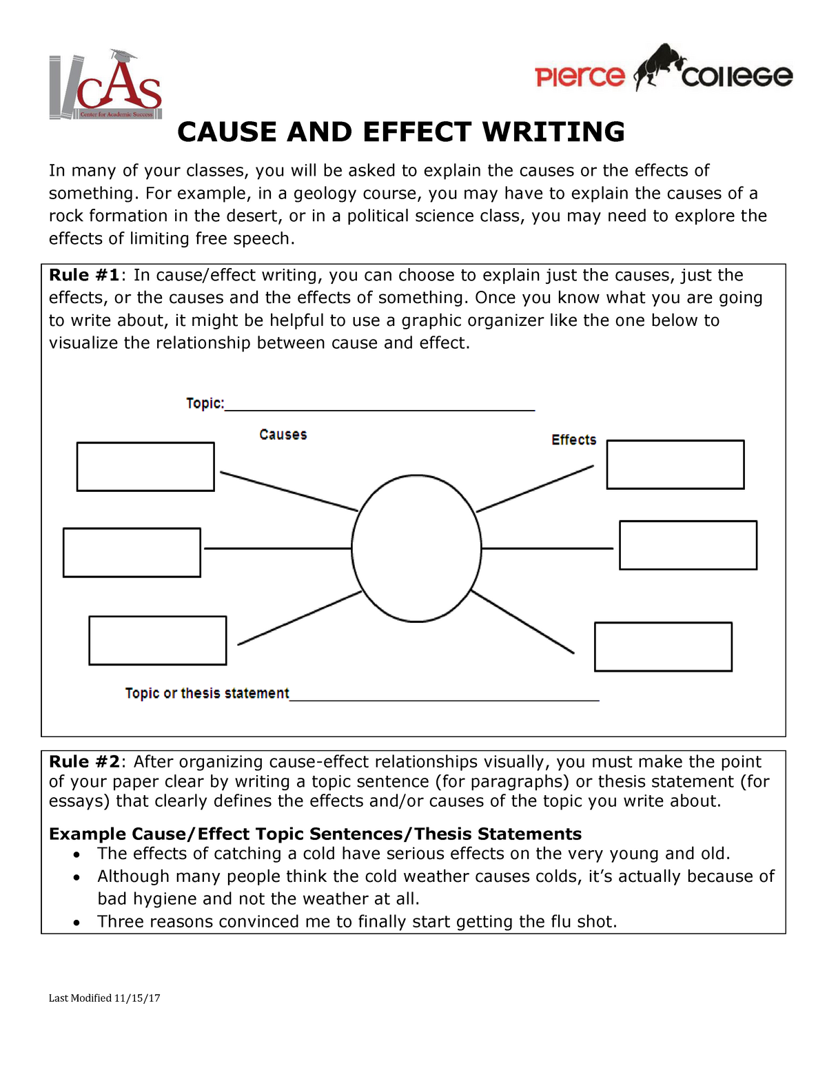How to write a cause and effect paper